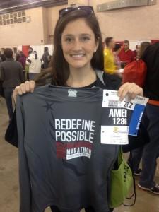 Amelia at the 2012 Philly Marathon
